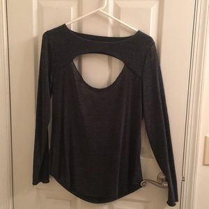 Open front and back shirt